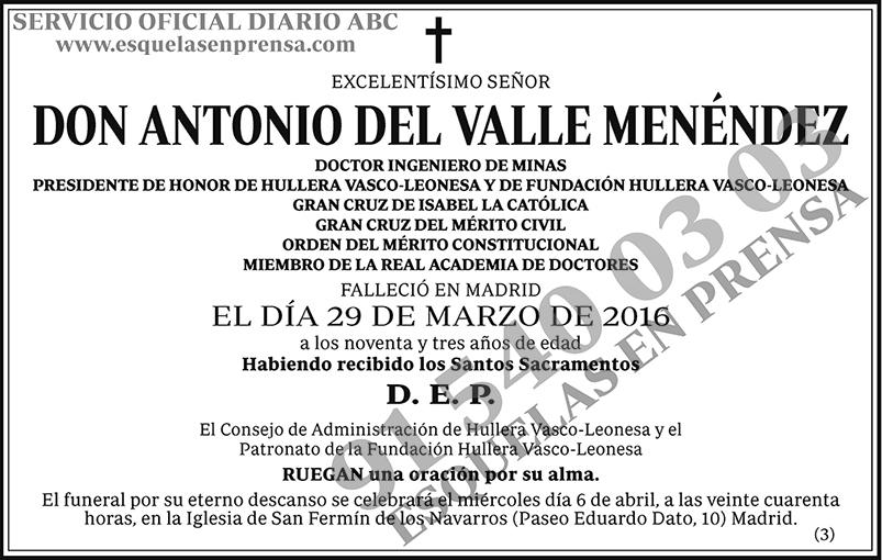 Antonio del Valle Menéndez